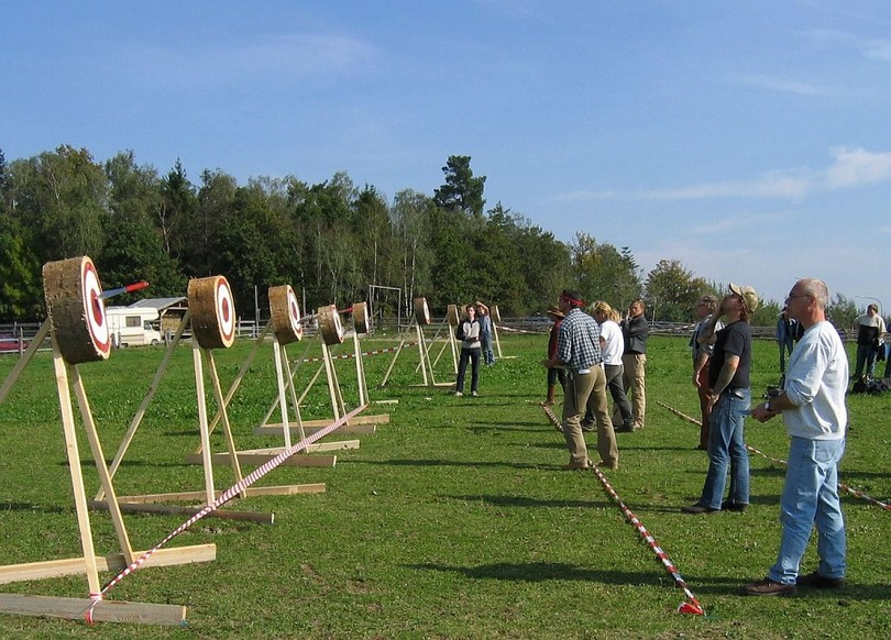 Knife-throwing-competition